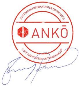 ANKÖ Siegel mit Unterschrift